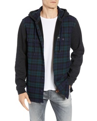 Lacoste Regular Fit Check Hooded Flannel Shirt