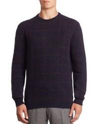 Ermenegildo Zegna Checked Alpaca Wool Sweater