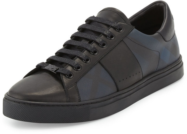 Burberry Ritson Pvc Check Leather Low