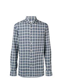 Kiton Check Long Sleeve Shirt
