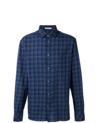 Bottega Veneta Checked Long Sleeve Shirt