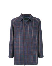 Prada Checked Single Breasted Coat