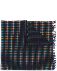 Paul Smith Ps By Checked Pattern Scarf