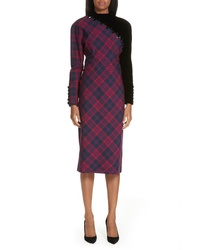 Marc Jacobs Embellished Plaid Dress