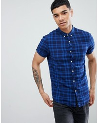 Tom Tailor Short Sleeve Dobby Check Shirt