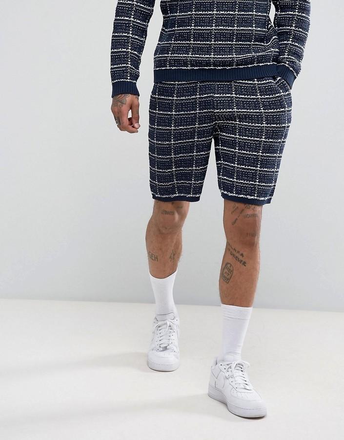 Textured Shorts In Navy - Navy Asos x3VetYA