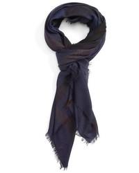 Burberry Check Silk Blend Scarf