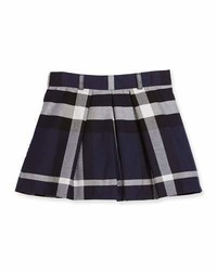 Navy Check Skirt