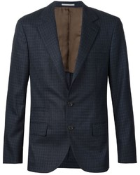 Brunello Cucinelli Checked Two Button Suit