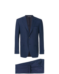 Canali Checkered Print Two Piece Suit