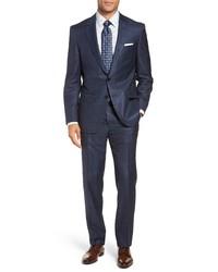 BOSS Harversglover Trim Fit Windowpane Suit