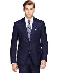 Brooks Brothers Regent Fit Three Piece Golden Fleece Windowpane Suit