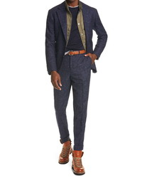 Brunello Cucinelli Windowpane Check Suit