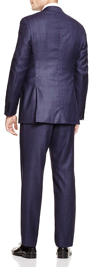 b1a448ffec96e8 Canali Windowpane Firenze Regular Fit Suit 100% Bloomingdales, $1,995 |  Bloomingdale's | Lookastic.com