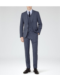 Reiss Alaric Checked Three Piece Suit