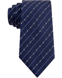 Navy Check Tie