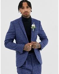 Twisted Tailor Super Skinny Harris Tweed Suit Jacket