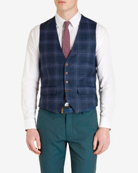 Ted Baker Argaw Checked Wool Vest