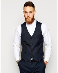 Asos Brand Slim Fit Vest In Check