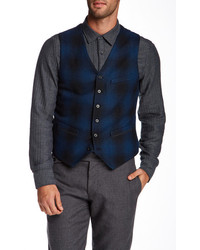 Onassis Wool Blend Plaid Vest