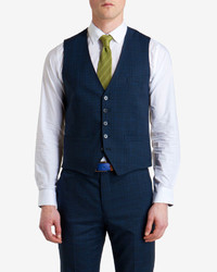 Ted Baker Roibosw Checked Wool Suit Vest