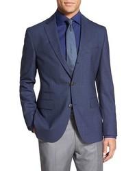 Navy Check Wool Blazer