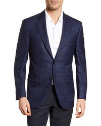 Peter Millar Classic Fit Windowpane Wool Sport Coat