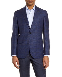 Ted Baker London Fit Houndstooth Wool Sport Coat