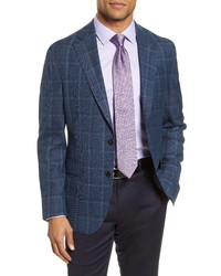 Ted Baker London Fit Windowpane Wool Sport Coat