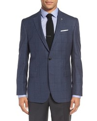 Ted Baker London Jay Trim Fit Check Wool Sport Coat