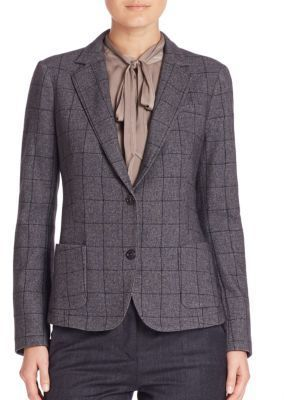 Eleventy Windowpane Blazer