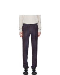Etro Blue Check Wool Trousers