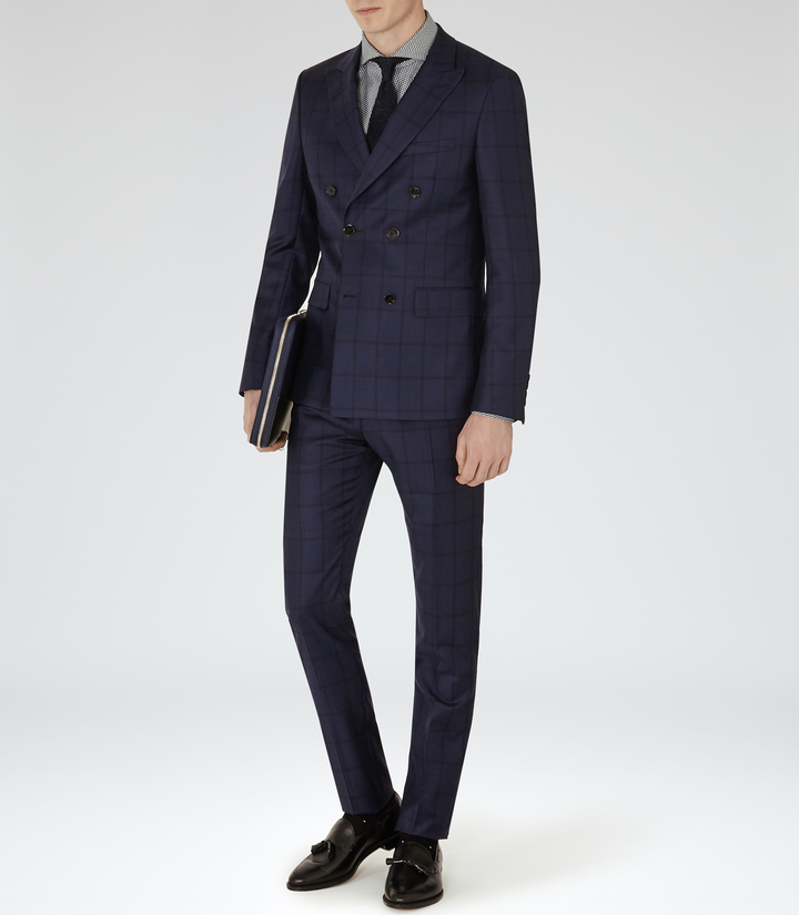 Reiss Constantine Double Breasted Wool Suit | Where to buy & how ...