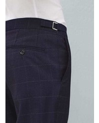 Mango Outlet Check Wool Suit Trousers