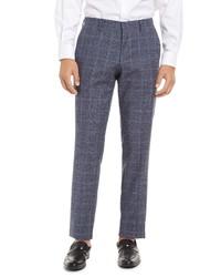 BOSS Genius Check Wool Trousers