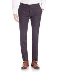 Paul Smith Merino Wool Check Trousers