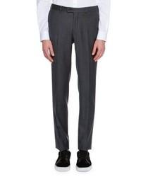 Lanvin Mini Check Super 120s Wool Suit Trousers Navy