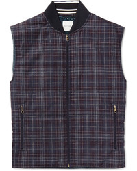 Paul Smith Checked Wool And Silk Blend Gilet