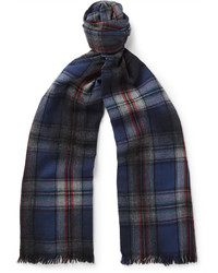 Lanvin Checked Wool Scarf