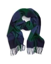 Barbour Lockton Check Merino Wool Cashmere Scarf