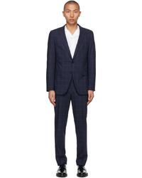 BOSS Blue Check Slim Suit