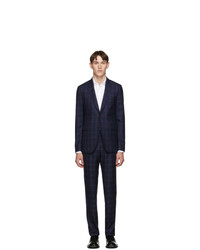 Paul Smith Blue Wool Check Suit