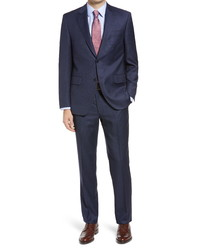 Peter Millar Flynn Classic Fit Windowpane Wool Suit