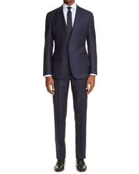 Emporio Armani G Line Slim Fit Windowpane Wool Suit