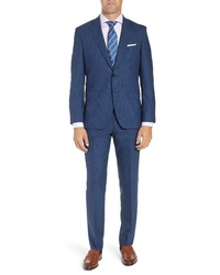 BOSS Johnstonslenon Classic Fit Check Wool Suit