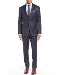 London jay trim fit check wool suit medium 783958