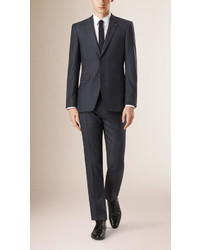 Burberry Modern Fit Check Wool Half Canvas Suit