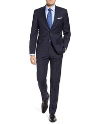 Hart Schaffner Marx New York Classic Fit Plaid Stretch Wool Suit