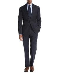 Armani Collezioni Tonal Windowpane Wool Two Piece Suit