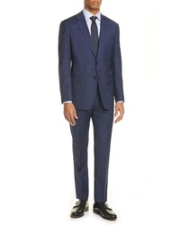 Giorgio Armani Trim Fit Check Wool Suit